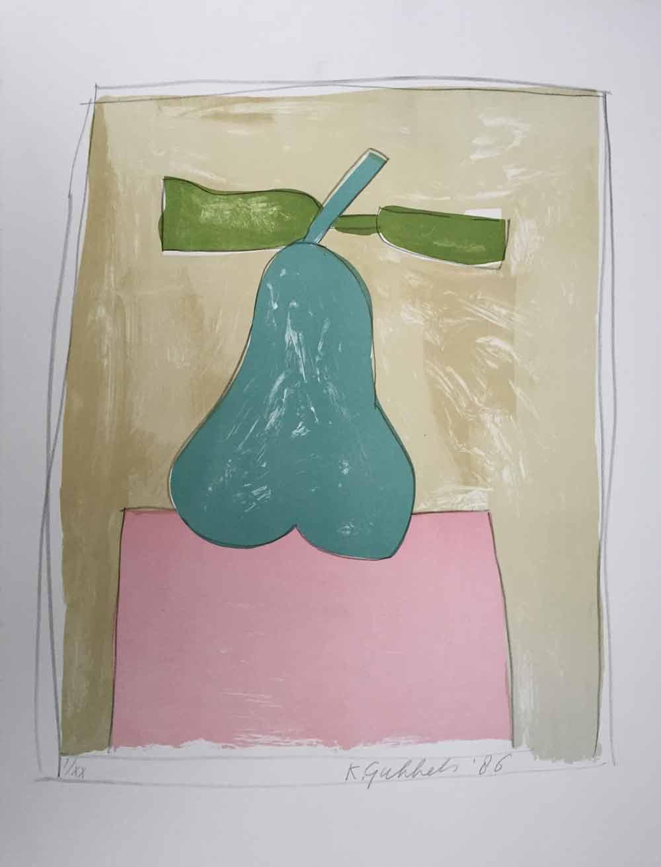 Klaas Gubbels peer 1986, 74x55 cm, litho I-XX