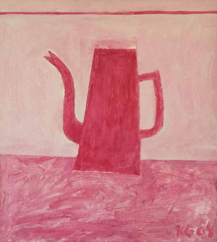 Klaas Gubbels roze kan 1984, 55x50 cm acrylverf op linnen