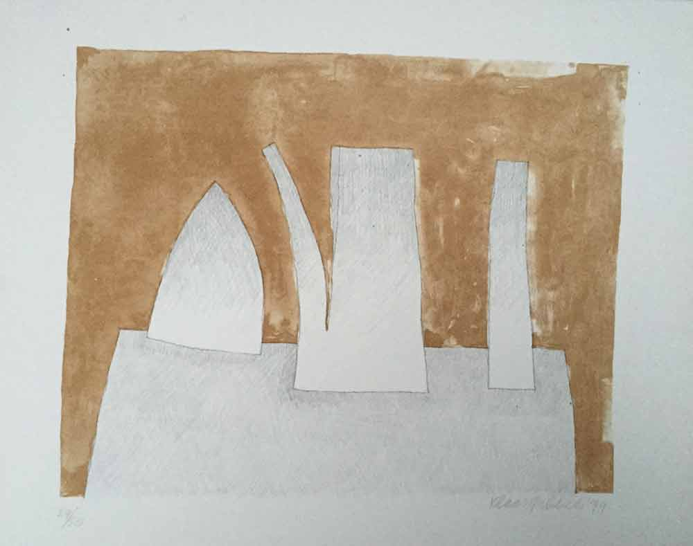 Klaas Gubbels zt 1979, 38x48 cm litho 29-50