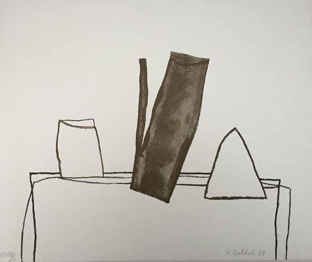 Klaas Gubbels, zwarte kan 1987 50x60 cm, XXXVIII-L