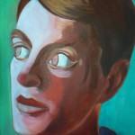 Wouter van Riesen, zelfportret, 100x75 cm, olieverf op doek
